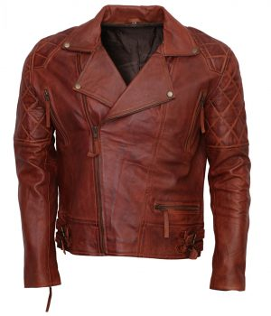 Designer Mens Brown Biker Leather Jacket