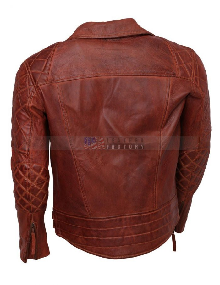 Designer Mens Brown Biker Leather Jacket For Sale Free Shipping Buy now