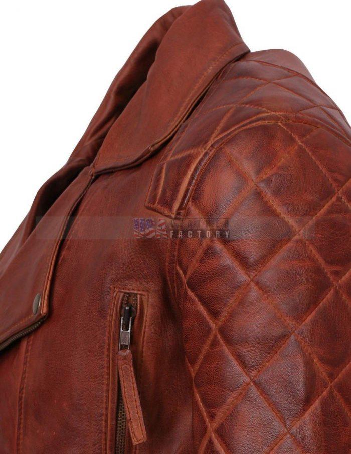 Designer Mens Brown Leather Jacke