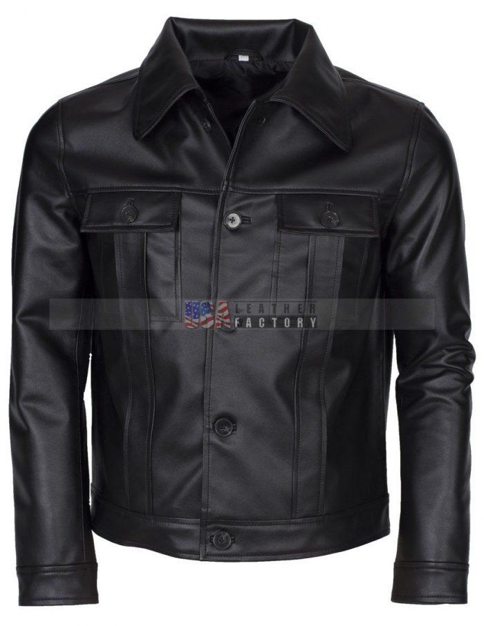 Elvis Presley Men Vintage Leather Jacket