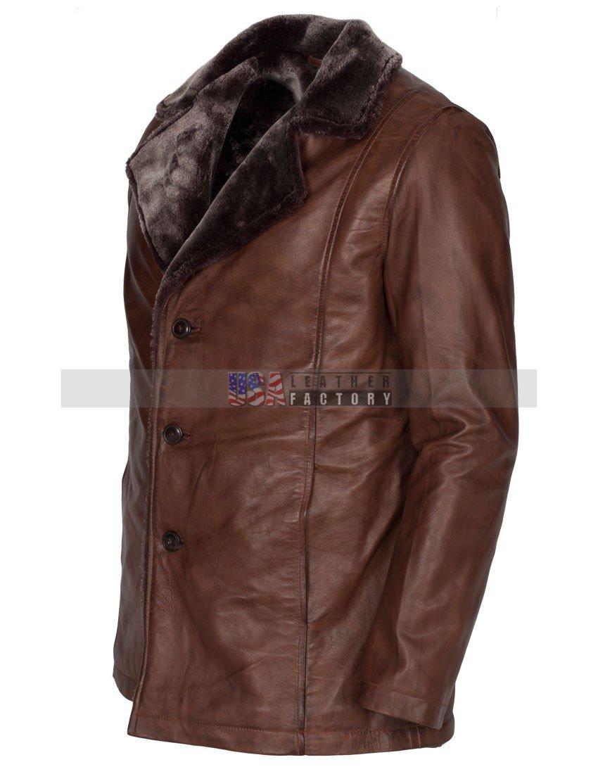 39fbcdf5882b Mens Italian Design Vintage Brown Leather Coat -