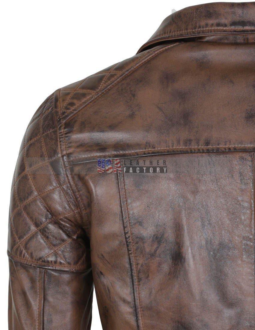 Designer Leather Jackets Mens | Mens Brown Vintage Designer Brando Genuine Leather Jacket