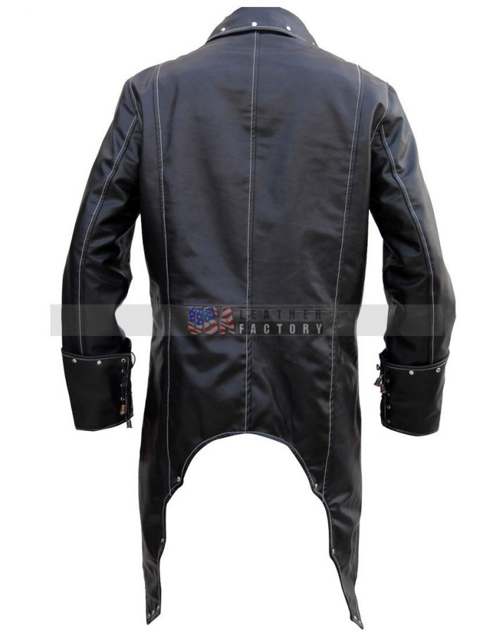 Mens Gothic Leather Coat Halloween Costume