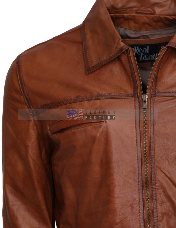 Simple-Brown-Waxed-Men-Leather-Jacket--hot-Sale