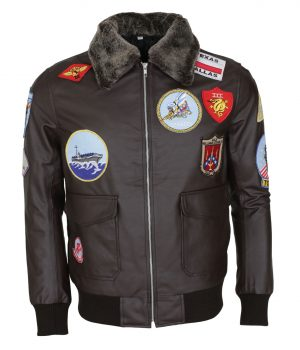 Top Gun Movie Tom Cruise Brown Leather Jacket