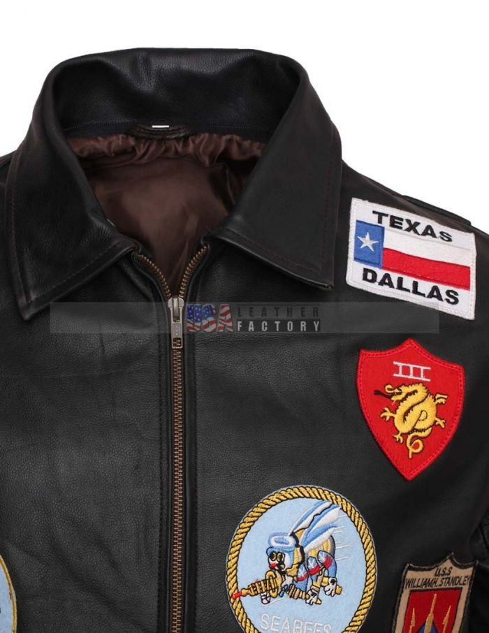 Top Gun Tom Cruise Pete Maverick Leather Jacket For Men