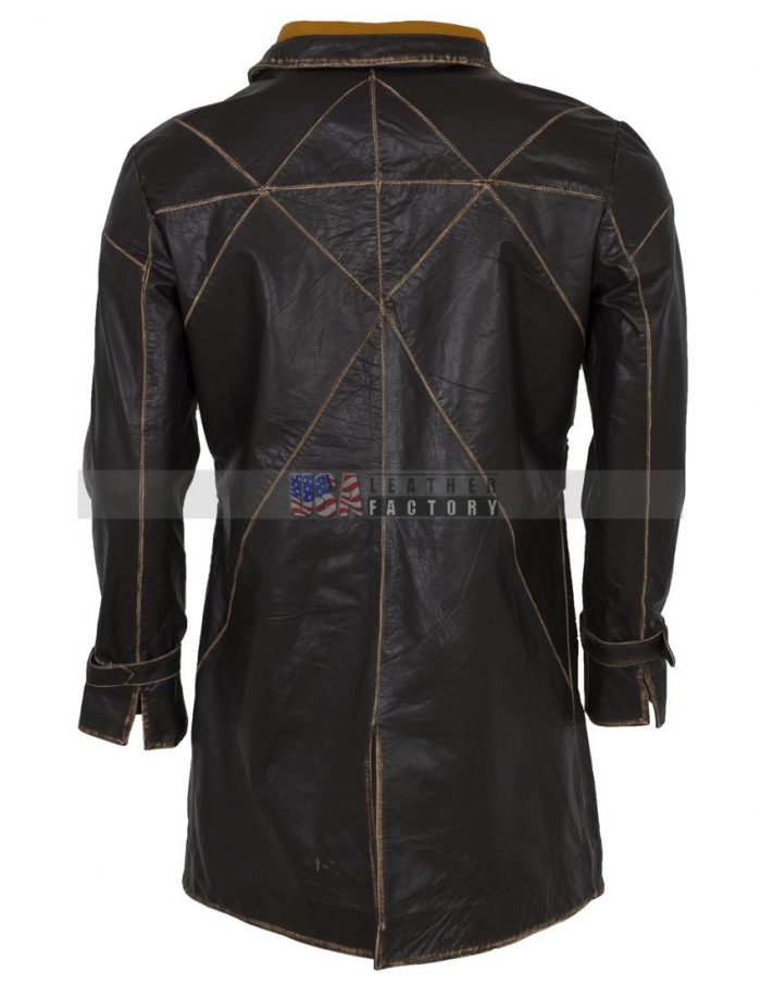 watch dogs aiden pearce leather coat costume Sale