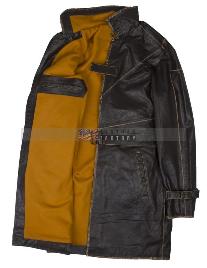 watch dogs aiden pearce leather coat costume Mens Jacket