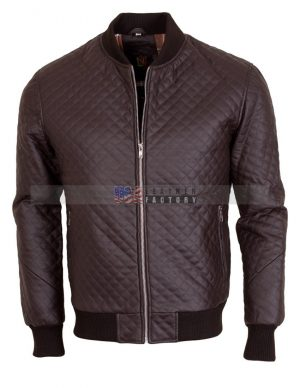 Brown Slim fit leather Jacket