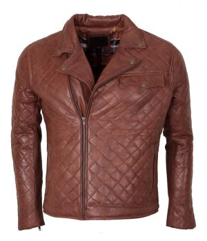 Men's Brown Biker Soft Casual Leather Jacket