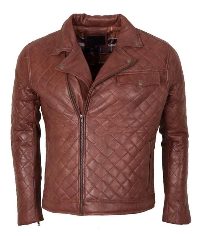 Men's Brown Biker Soft Casual Leather Jacket