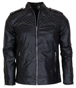 Batman Beyond Black Leather Jacket Costume