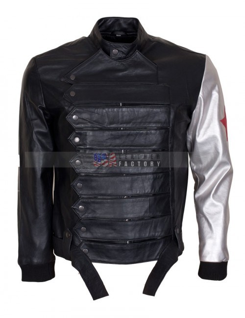Captain America Civil War Bucky Barnes Leather Jacket
