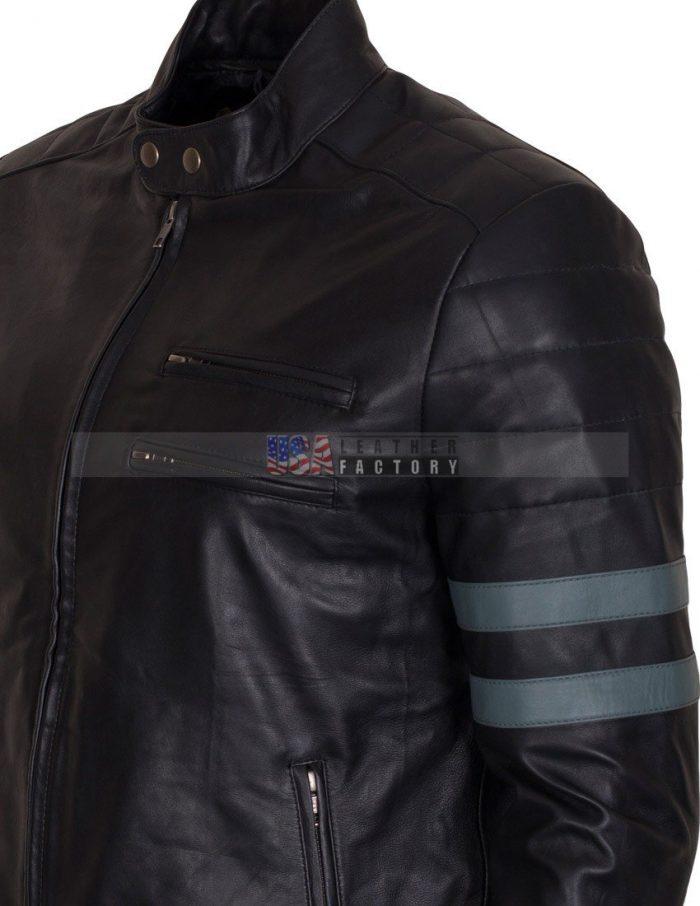 Black Biker Leather Jacket