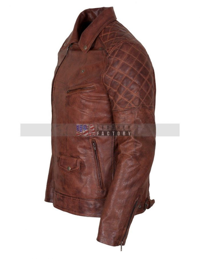Brown Motorcycle Leather Jacket