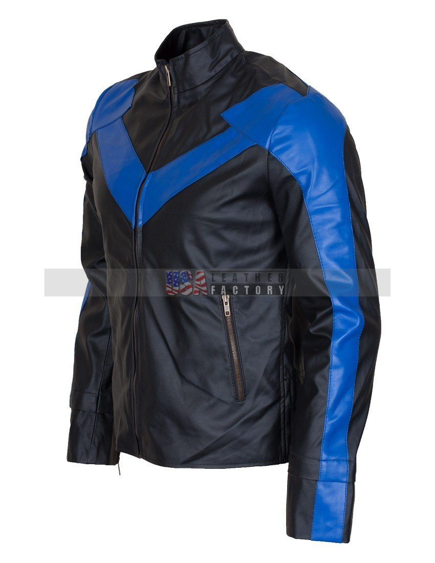 41276ec1c Dick Grayson Night THE WING Leather Jacket Online Sale