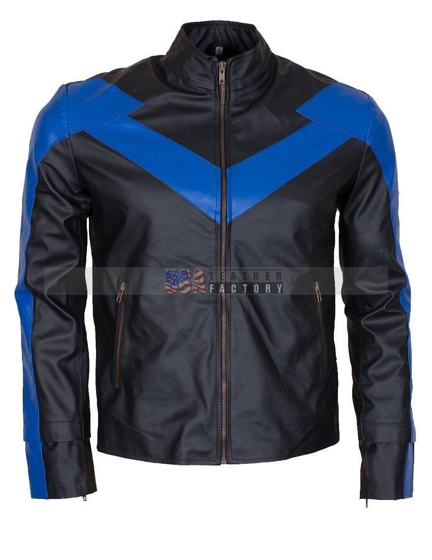 e5b33695b Dick Grayson Nightwing Leather Jacket Online Sale