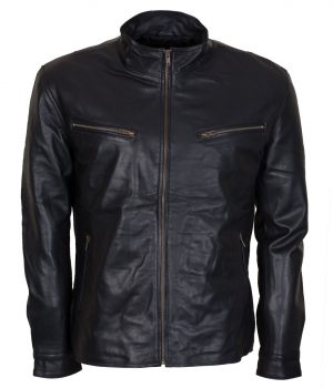 Dominic Toretto Black Biker Leather Jacket