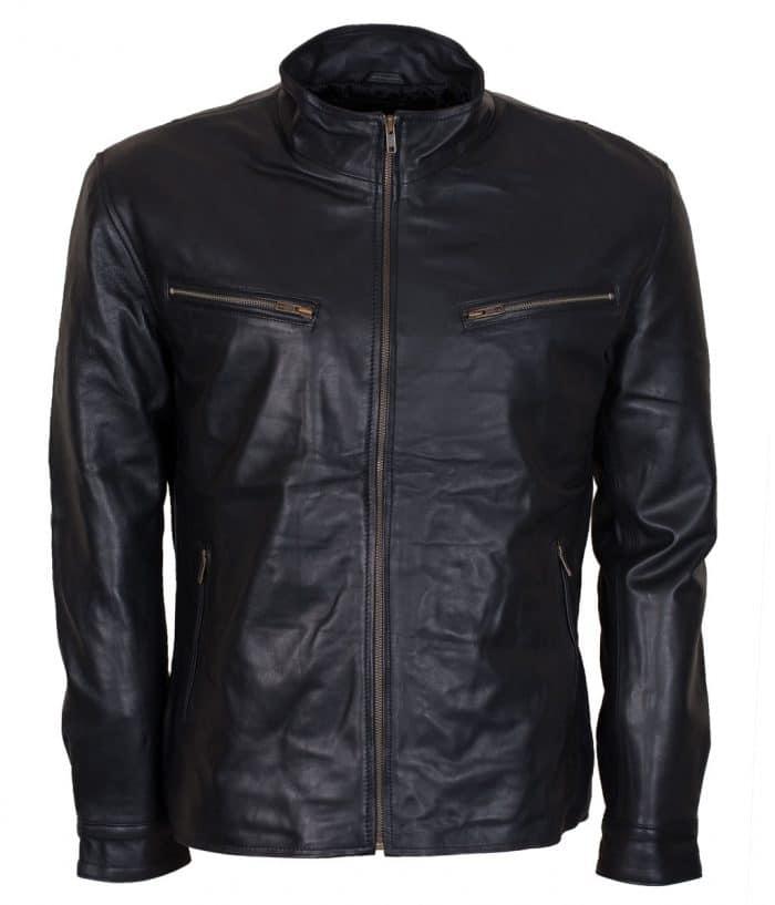 Dominic Toretto Black Biker Leather Jacket