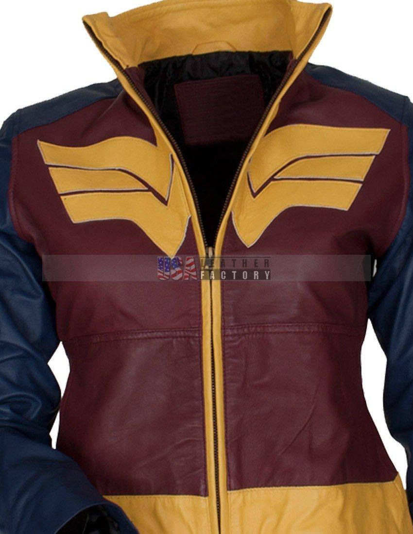 0ef93ab3b631 Gal Gadot Wonder Woman Dawn of Justice Leather Jacket
