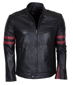 Mayhem Black Slim fit Motorcycle Jacket