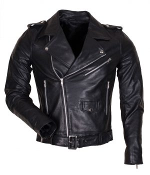 Men's Black Genuine Leather Motorcycle Jacket