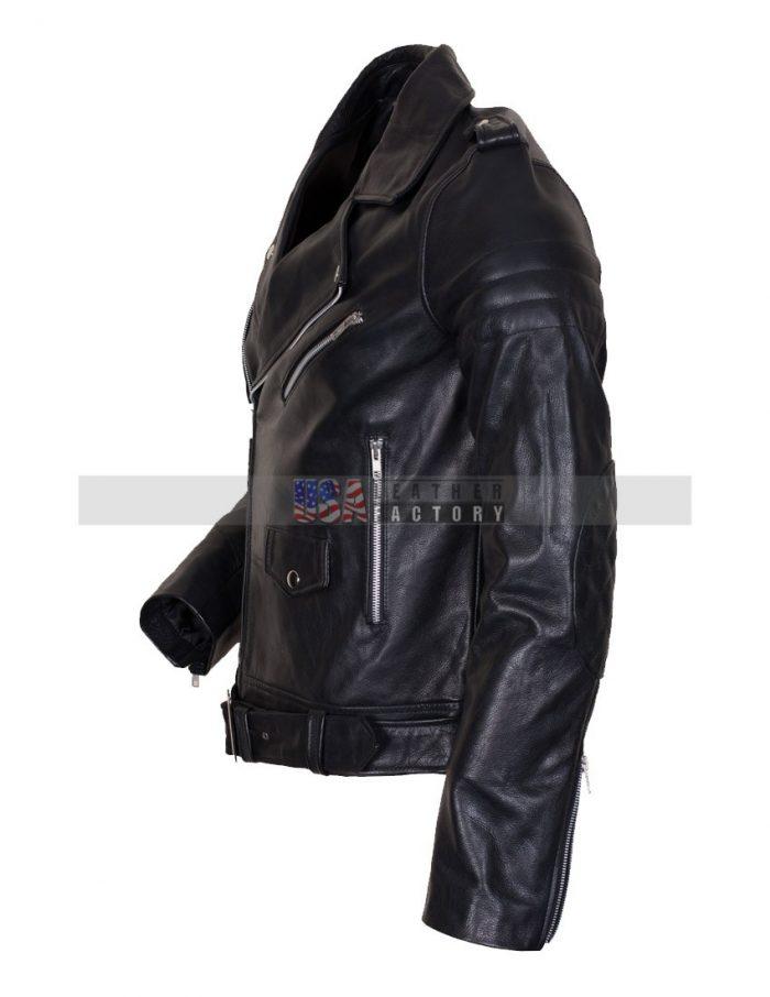 Men's Black Motorcycle Jacket