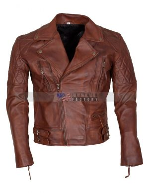 Diamond Motorcycle Leather Jacket