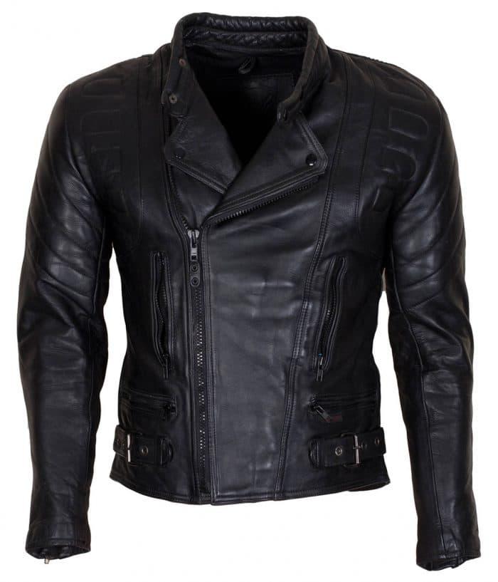 Men's Real Cowhide Black Motorcycle Leather Jacket Sale