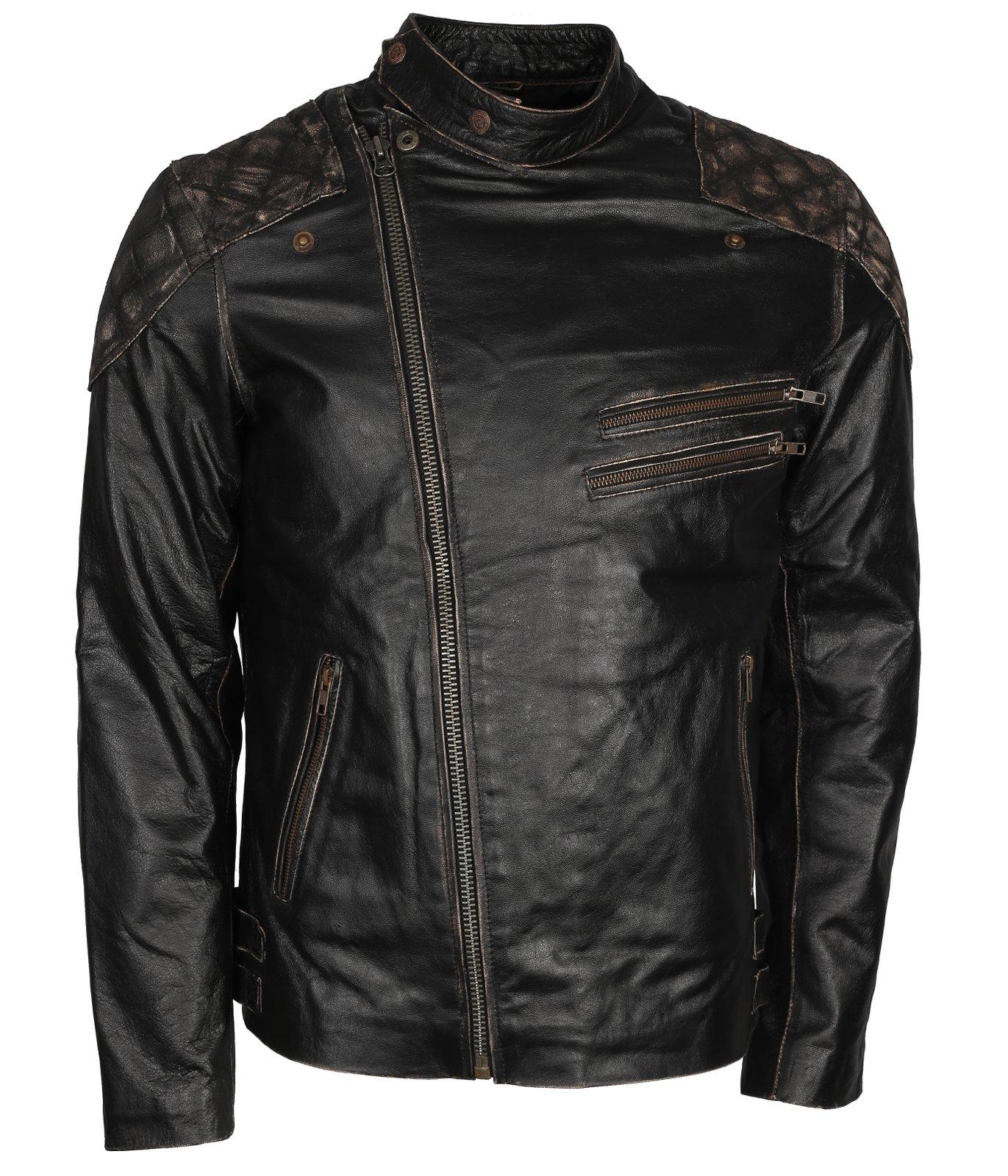 SMALL Mens Leather Motorcycle Biker Waistcoat Motorbike Vest