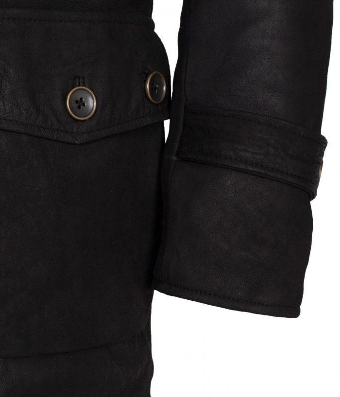 Black Bane Leather Coat