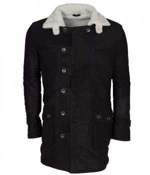 Black Bane Leather Coat
