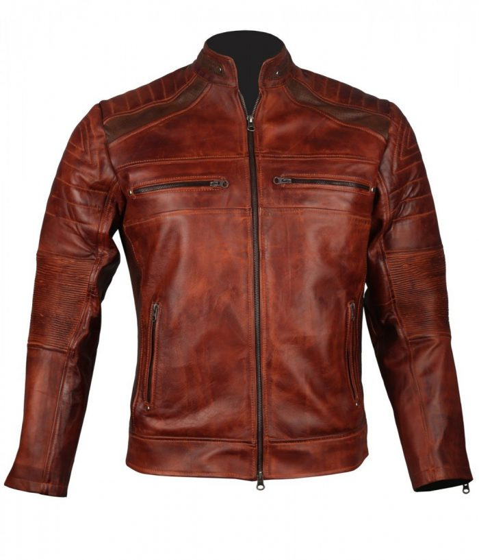 Biker brown Leather Jacket