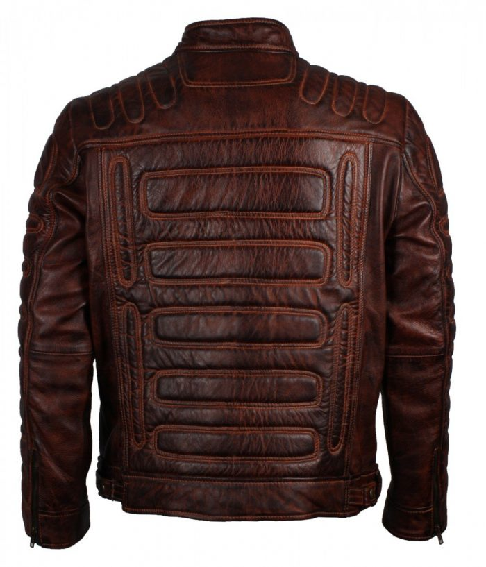 Brown Padded Leather Jacket