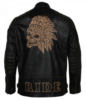 Apache Black Biker Jacket
