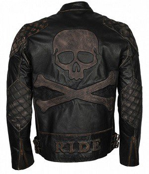 Quilted Distressed leather Jacket