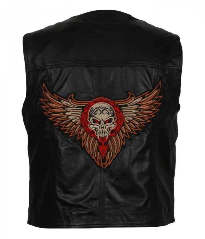 Motorcycle leather vest