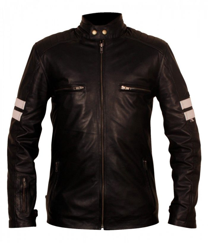 Mens 92 Rocket Cow Leather Biker Jacket
