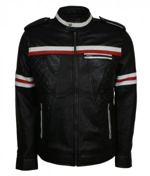 Zod Black Quilted Fashion Leather Jacket