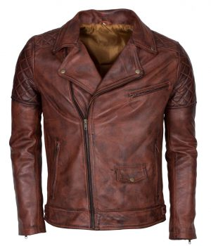 Brando Vintage Motorcycle Leather Jacket