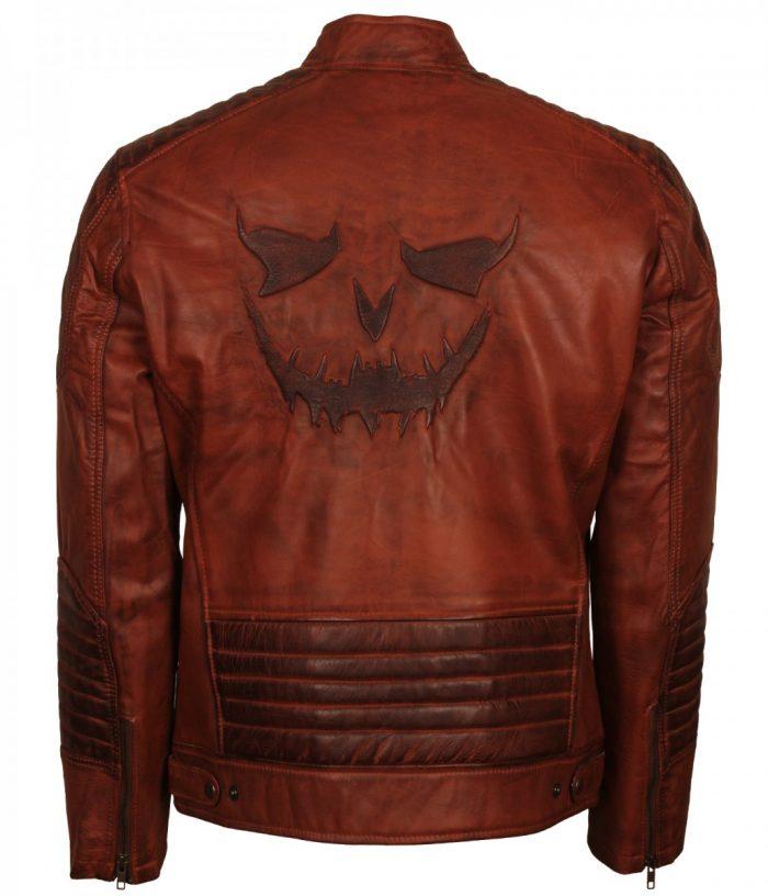 Scare Crow Men Brown Vintage Leather Jacket