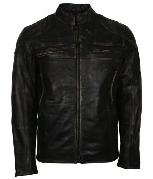 Mens-Distressed-Black-Quilted-Designer-Motorcycle-Black-Leather-Jacket
