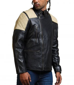 Black Brando Fashion Men Leather Jacket