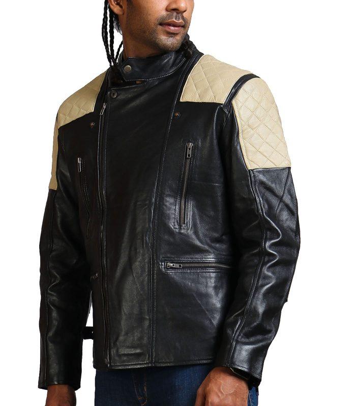Black Brando Fashion Men Leather Jacket Sale