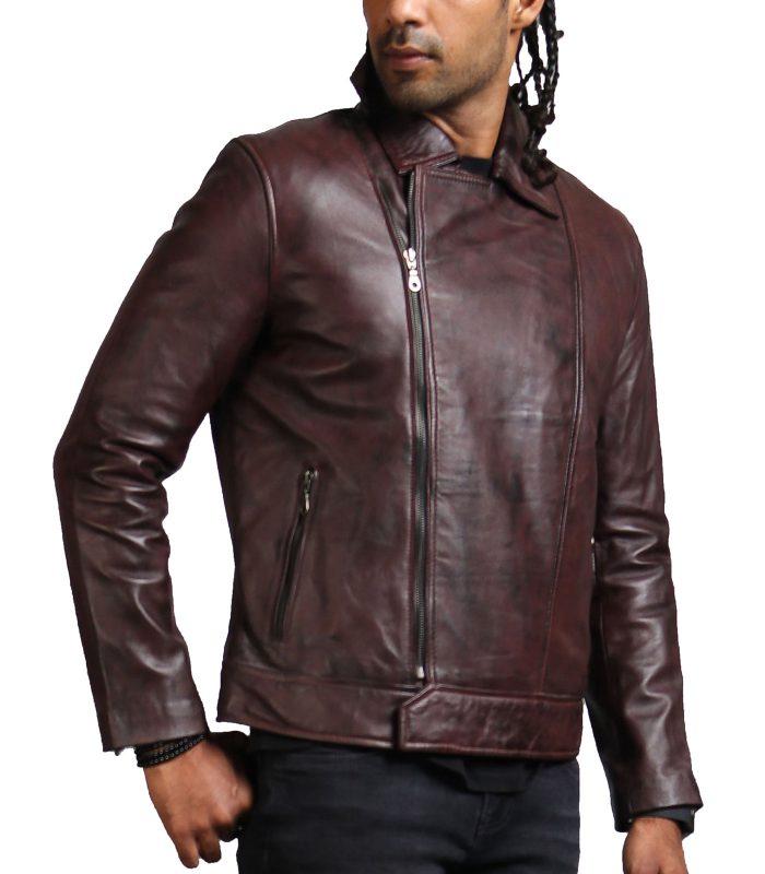 Vincent Men Fashion Brown Leather Jacket